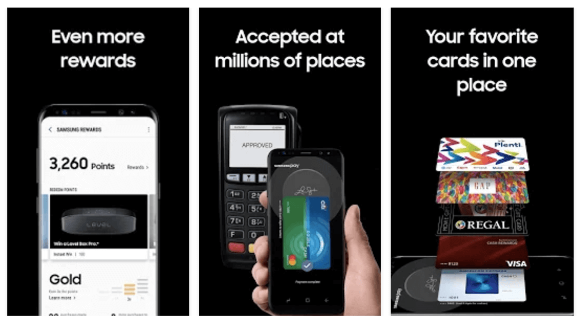 Samsung Rewards allows customers to pay with a variety of cards and still earn rewards