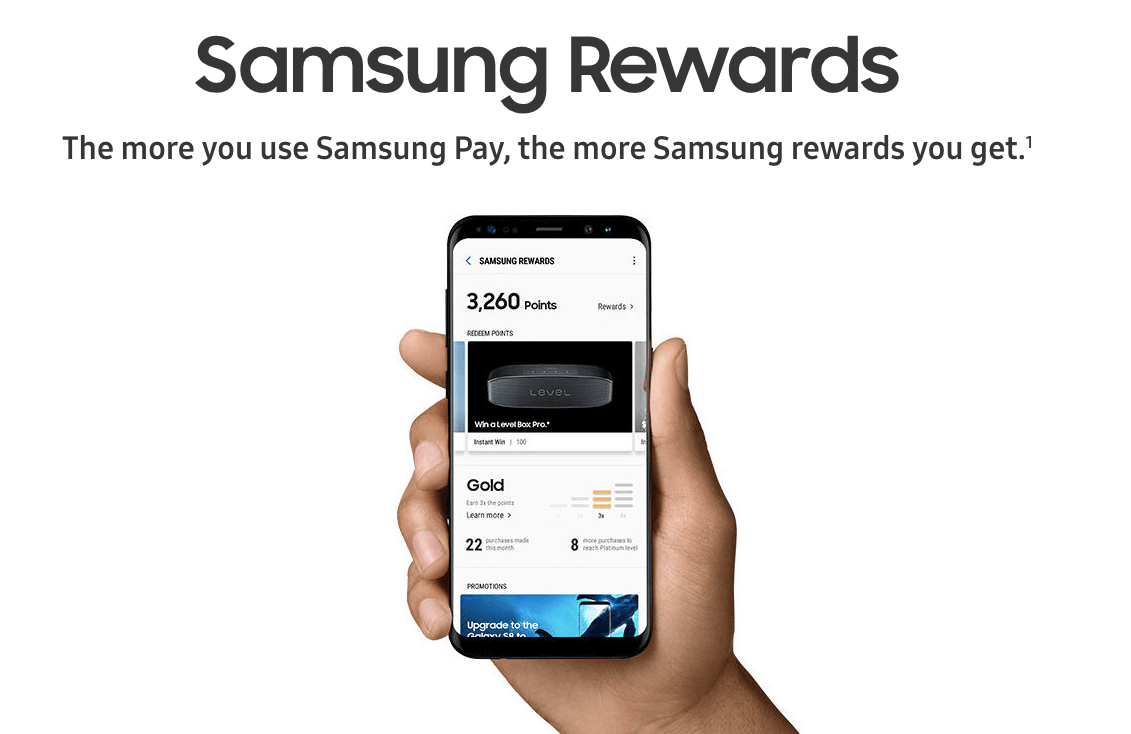 With Samsung Rewards the more you use Samsung Pay the more you earn