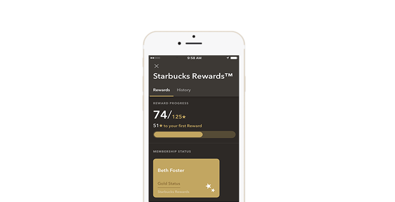 Starbucks Rewards Progress Bar