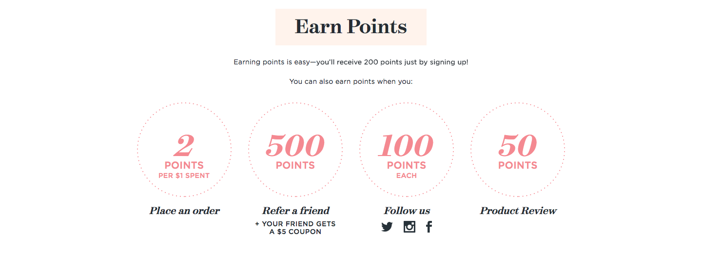 creative rewards program names love club earn