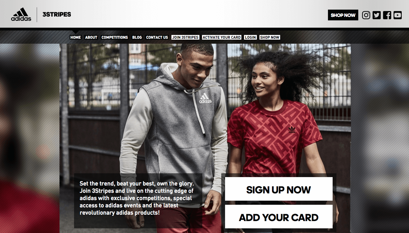 Creative Rewards Program Names Adidas 3stripes cta