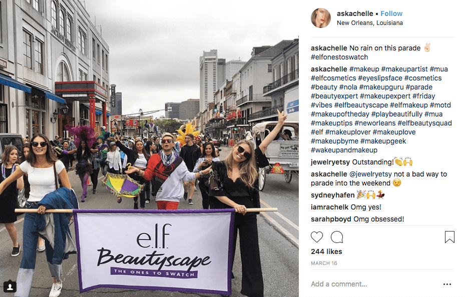 Creative Rewards Program Names Elf Beauty Squad instagram #elfbeautysquad parade