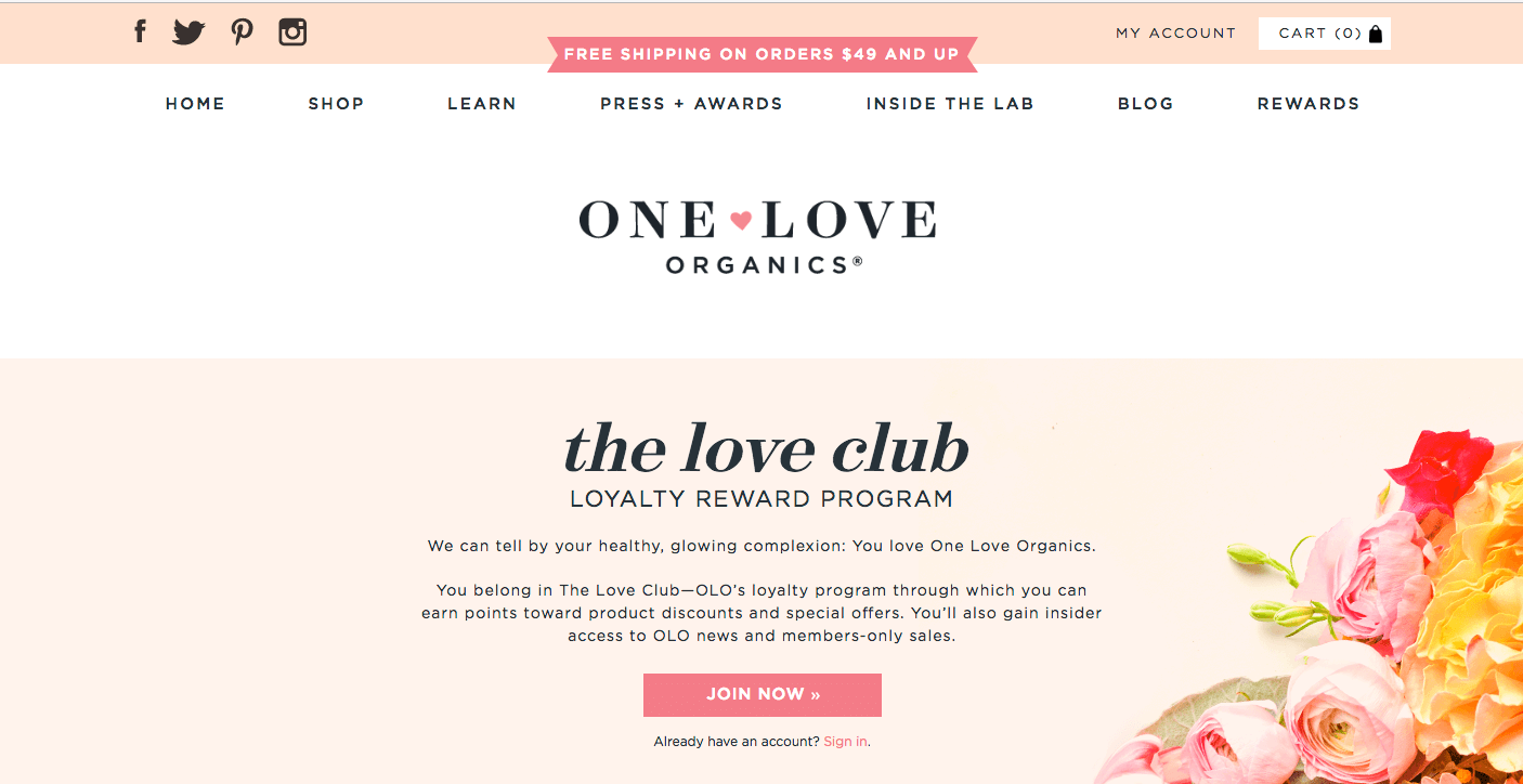 Creative Rewards Program Names One Love Organics the love club reward program join now