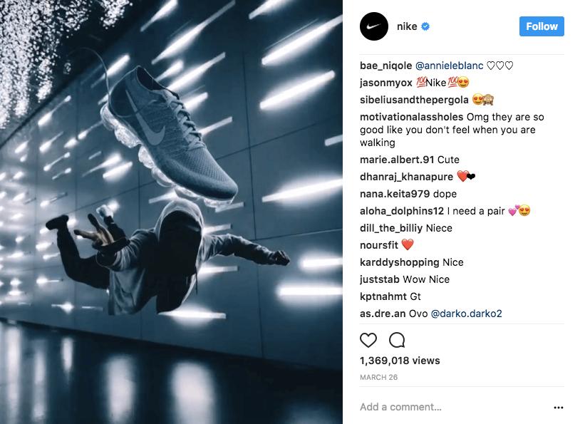 Nike Instagram Fans