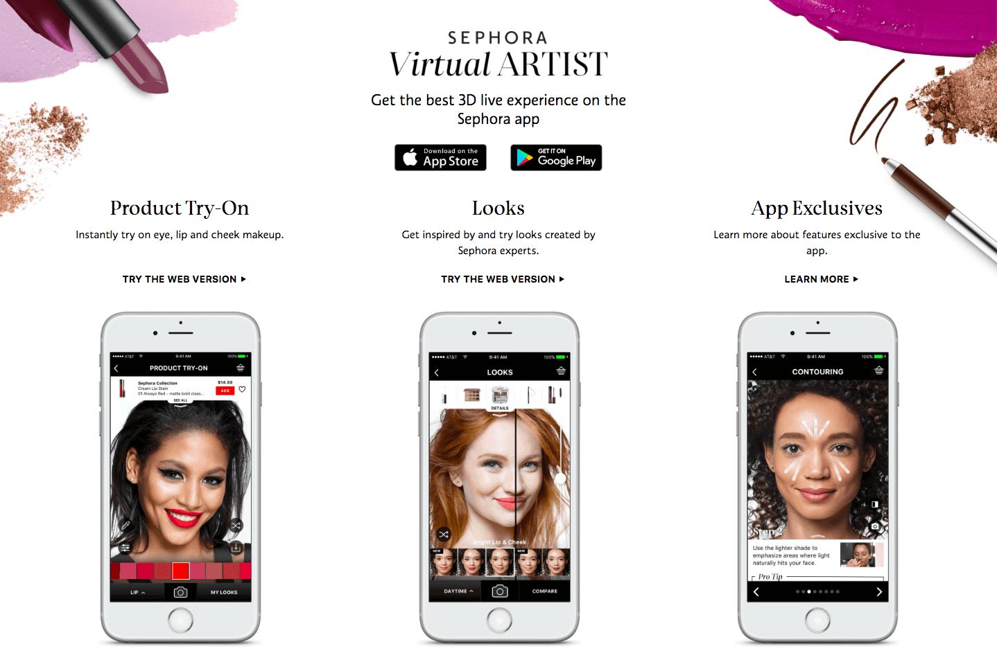 Best Customer Experiences Sephora Virtual Artist