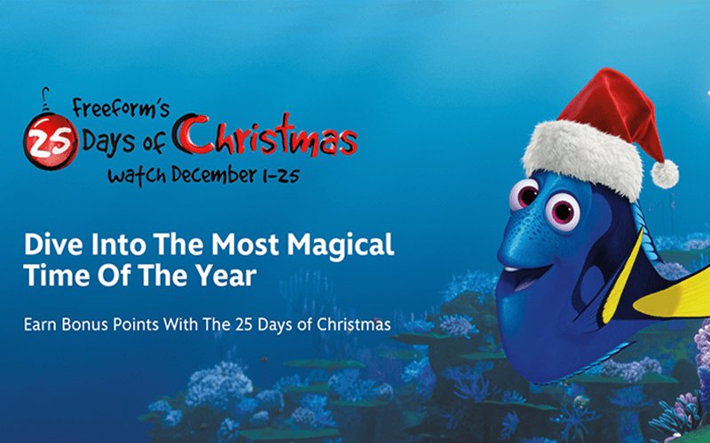 Freeform 25 days of christmas promtion with disney