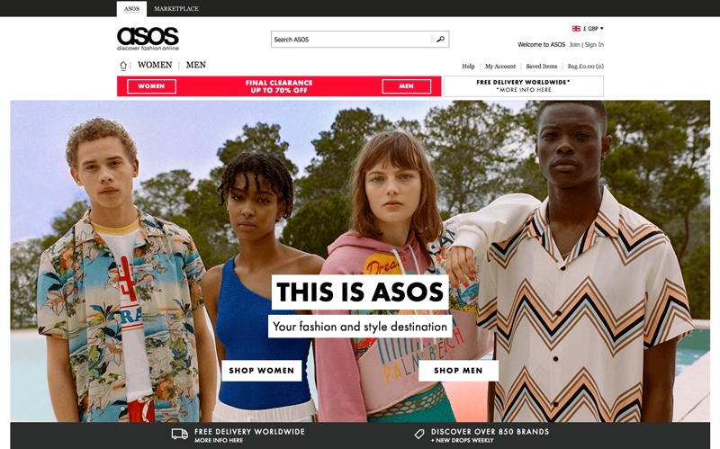 in-store experience ASOS