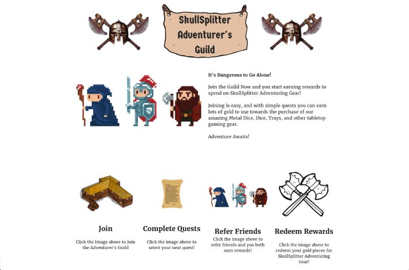 in-store experiences skullsplitters adventurer's guild