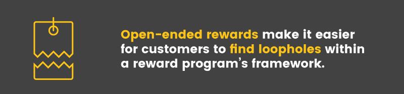 exploit reward point program open-ended rewards