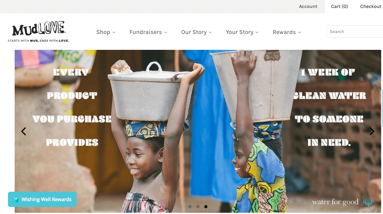 5 Benefits of Building an Online Brand Community - Mudlove - every product provides 1 week of water  - kids with water buckets