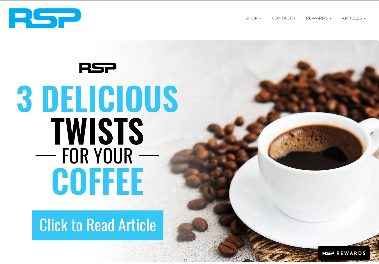 5 Benefits of Building an Online Brand Community - RSP home page - 3 delicious twists for your coffee blog, coffee cup with beans
