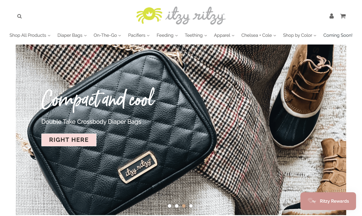 best brand communities - itzy ritzy homepage