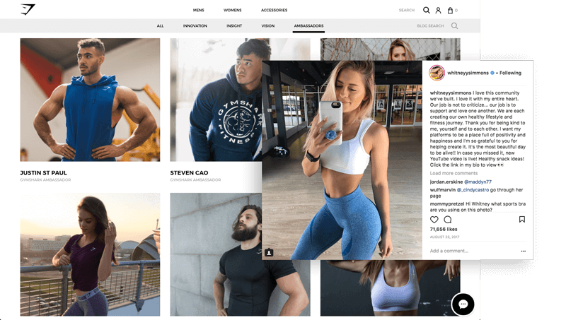 Best Brand Communities - Gymshark-Ambassadors
