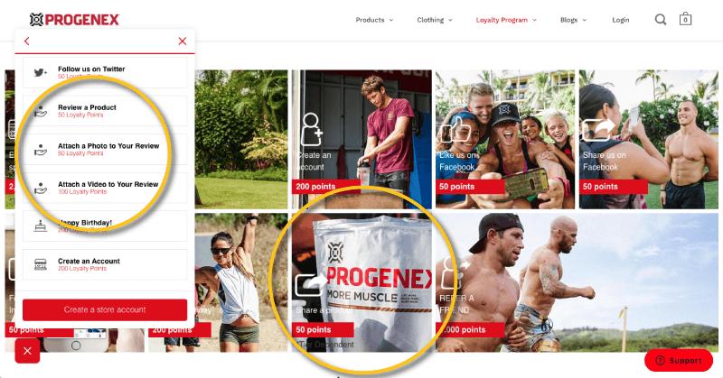 Progenex rewards for customer reviews