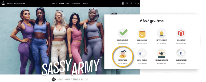 Workout Army rewards for referrals