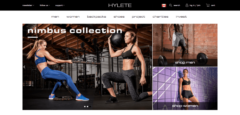 hylete uses human faces in their marketing to improve their customer experience