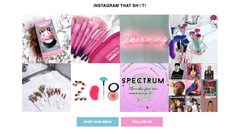 spectrum's vibrant instagram community improves their web experience