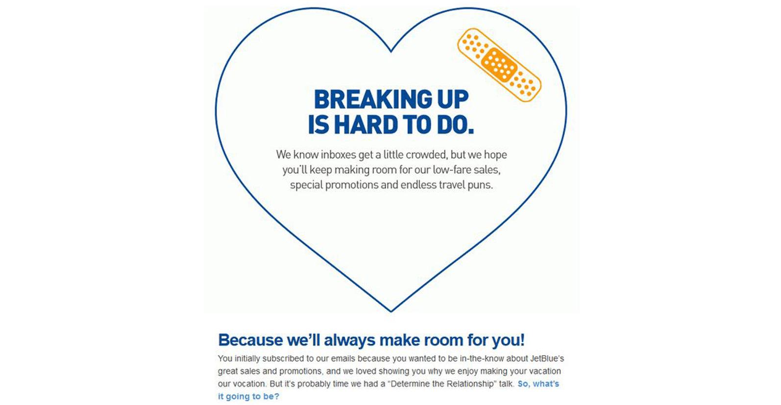 JetBlue's reengagement campaign