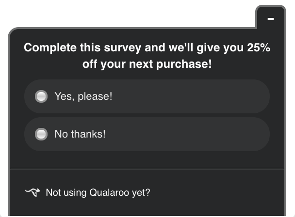 qualaroo survey used to reactivate dormant customers