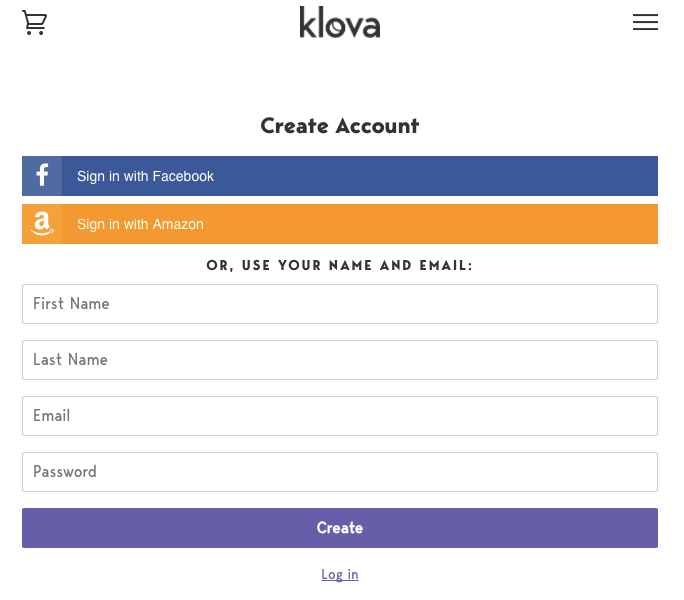 Klova Signup Process