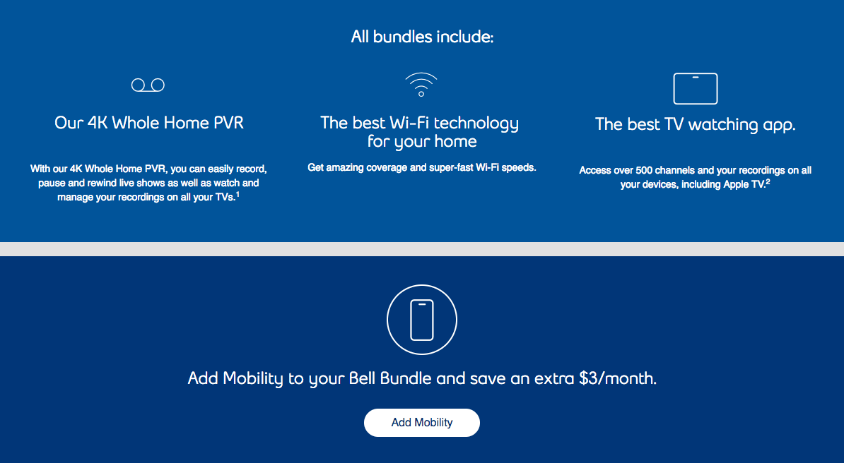 Bell TV and Internet bundle