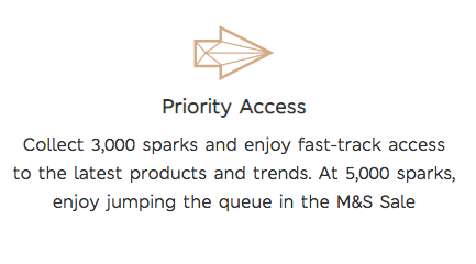 Rewards Case Study M&S Spark Rewards - early tiers