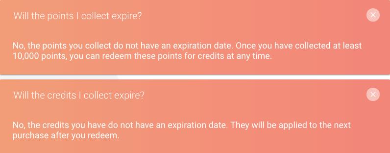 Ritual Rewards Case Study- FAQ point expiry information