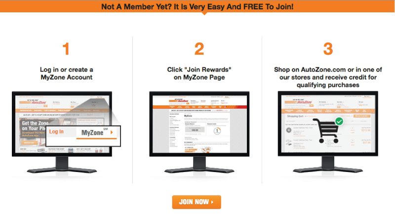 autozone rewards steps to join