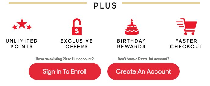 pizza hut dominos rewards benefits