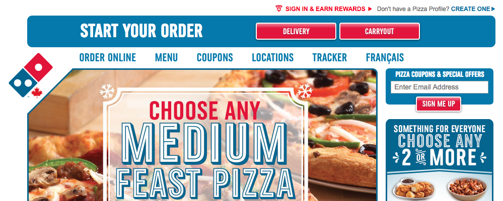 pizza hut dominos rewards piece of the pie