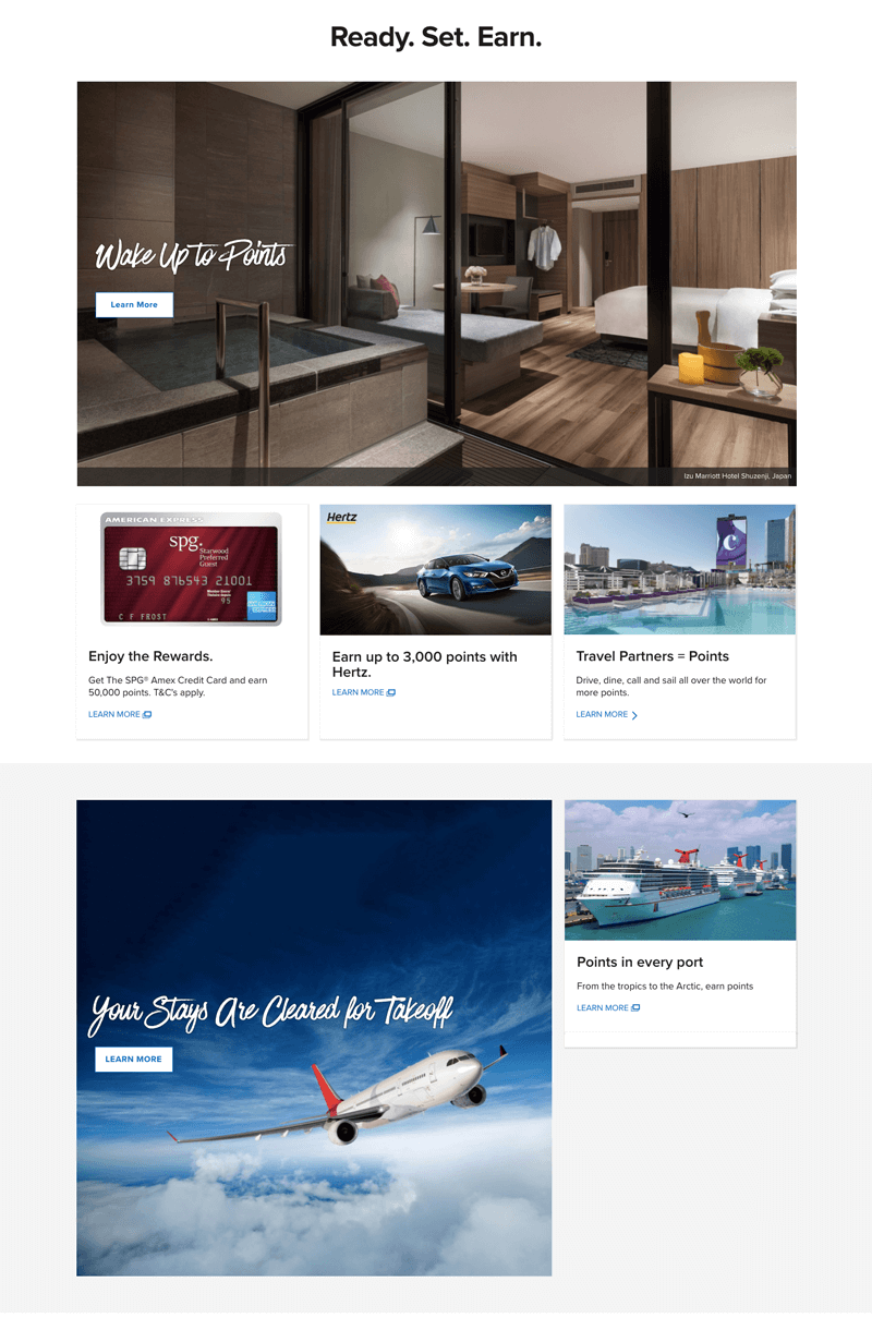 Marriott Rewards earn points page
