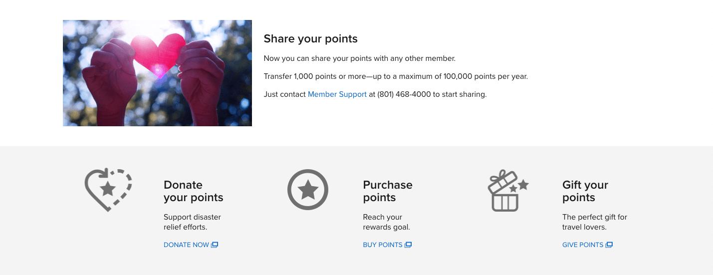 Marriott Rewards share your points
