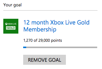 Xbox Live 12 month subscription goal