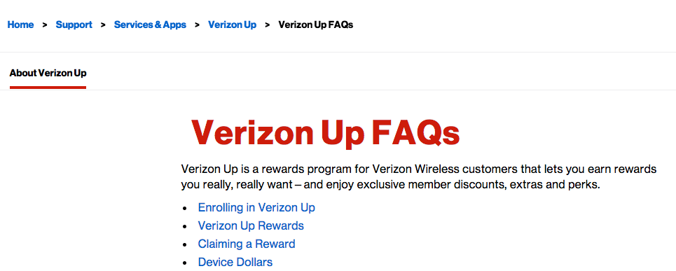 Verizon Up Rewards - Frequently asked questions