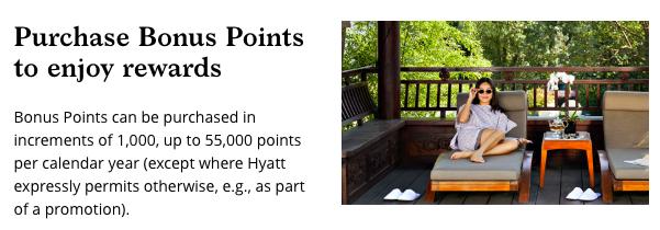 World of Hyatt Buying Points