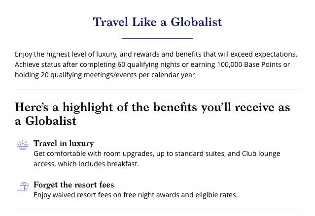 World of Hyatt Globalist Perks