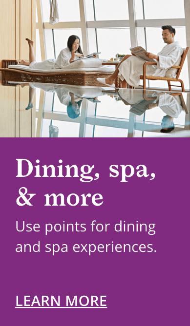World of Hyatt VIP Program Dining and Spa