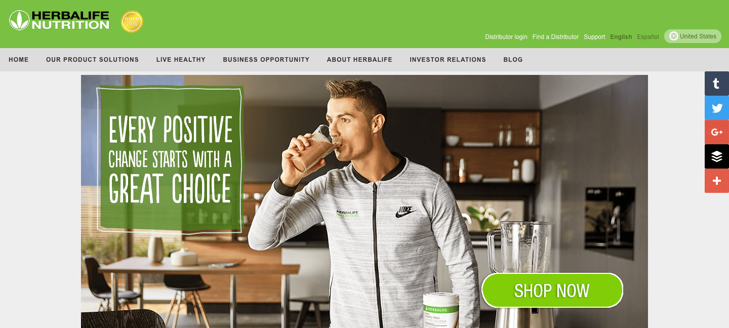 herbalife nutrition is known for running an affiliate program