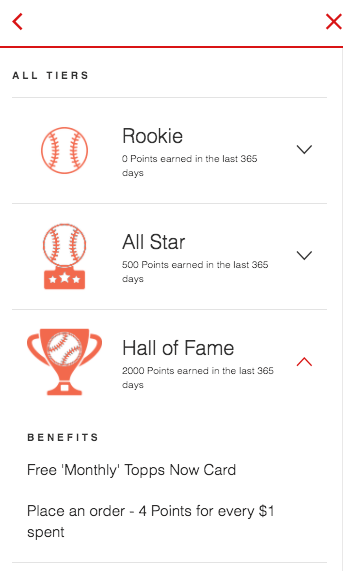 Topps Now Hall of Fame VIP Tier