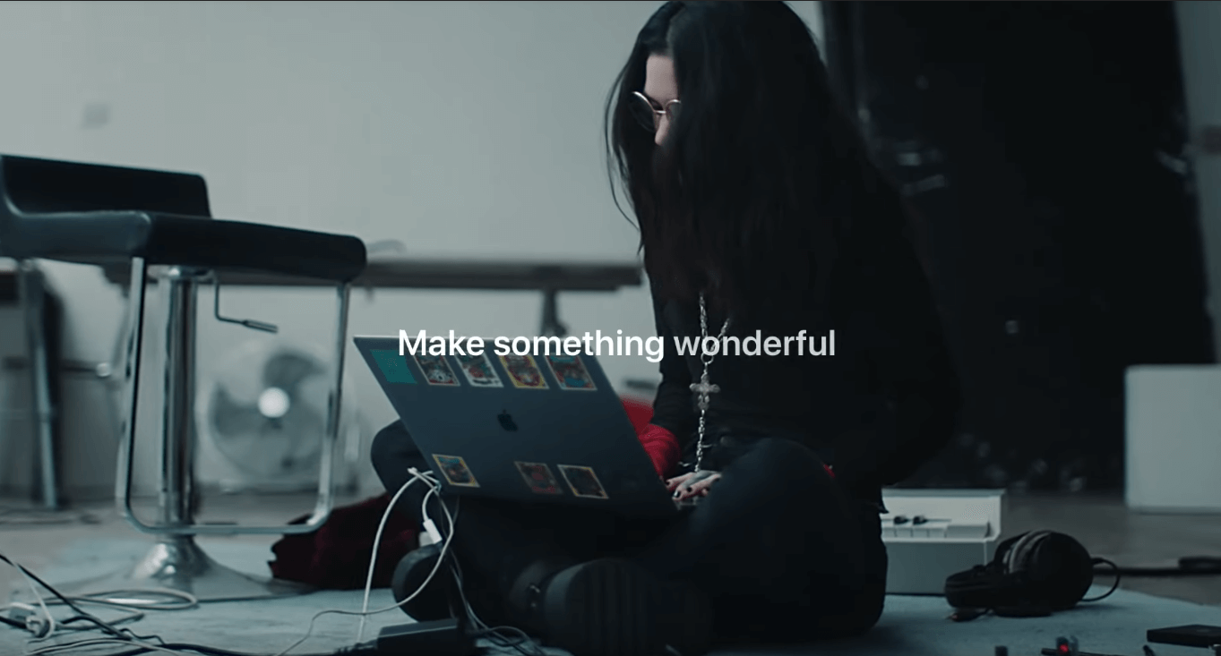 emotional marketing - apple make something wonderful