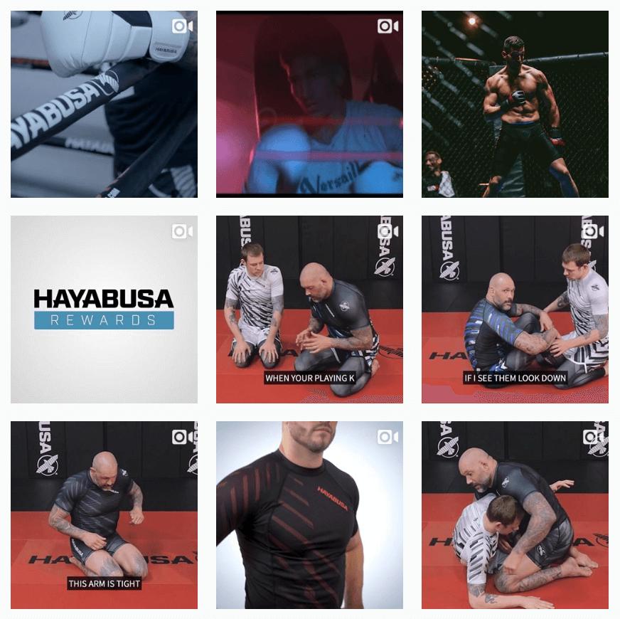 Hayabusa Fight Instagram feed
