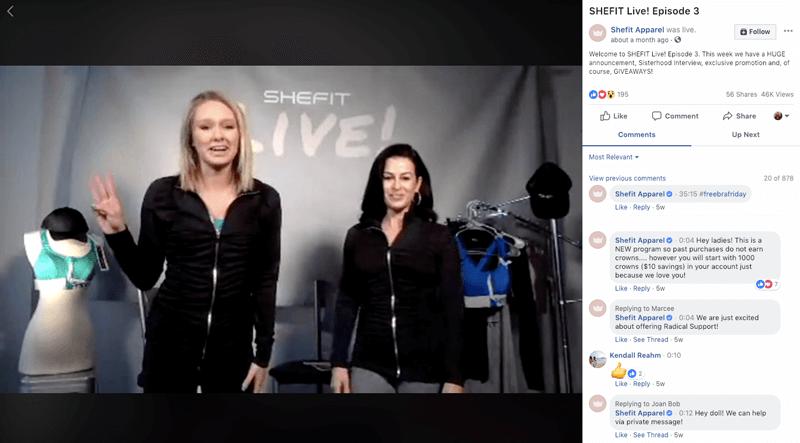SheFit Facebook Live