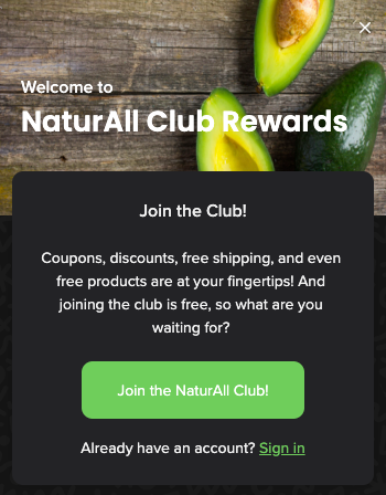 NaturAll Club program card text
