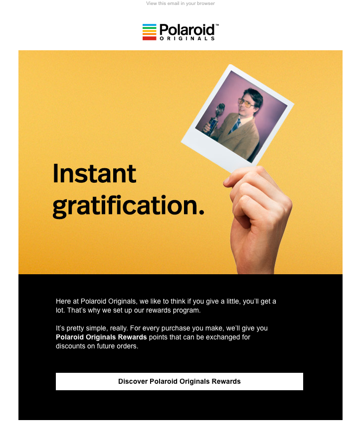 Polaroid Originals FOMO email