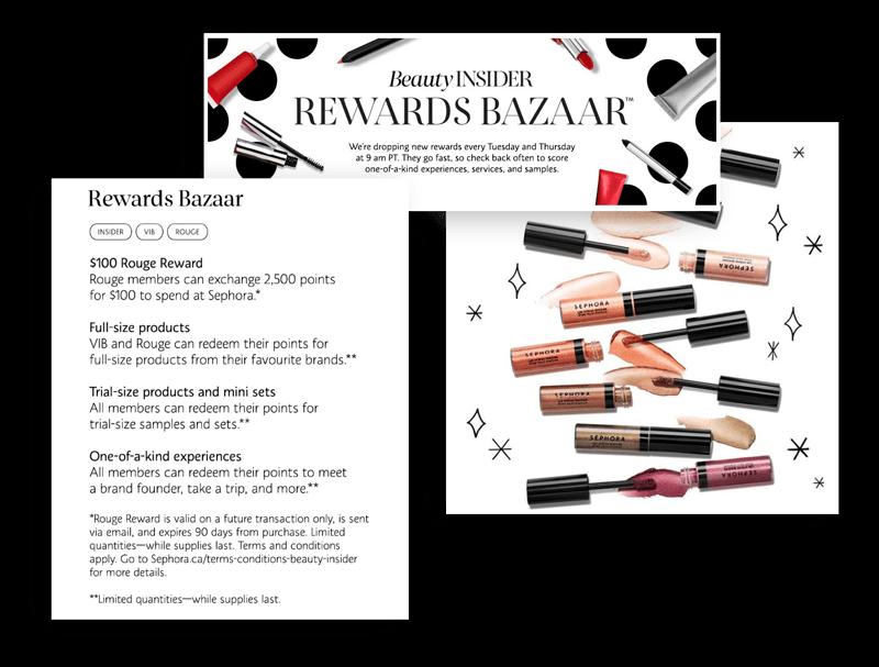 Sephora's Rewards Bazaar changes