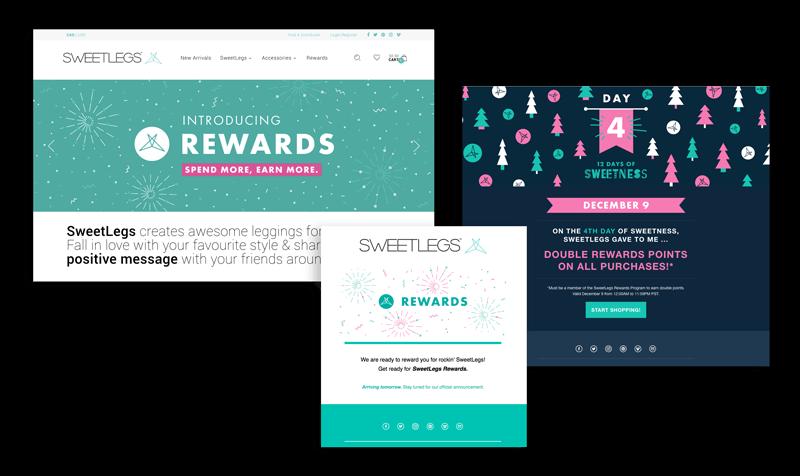 Sweet Rewards program communications