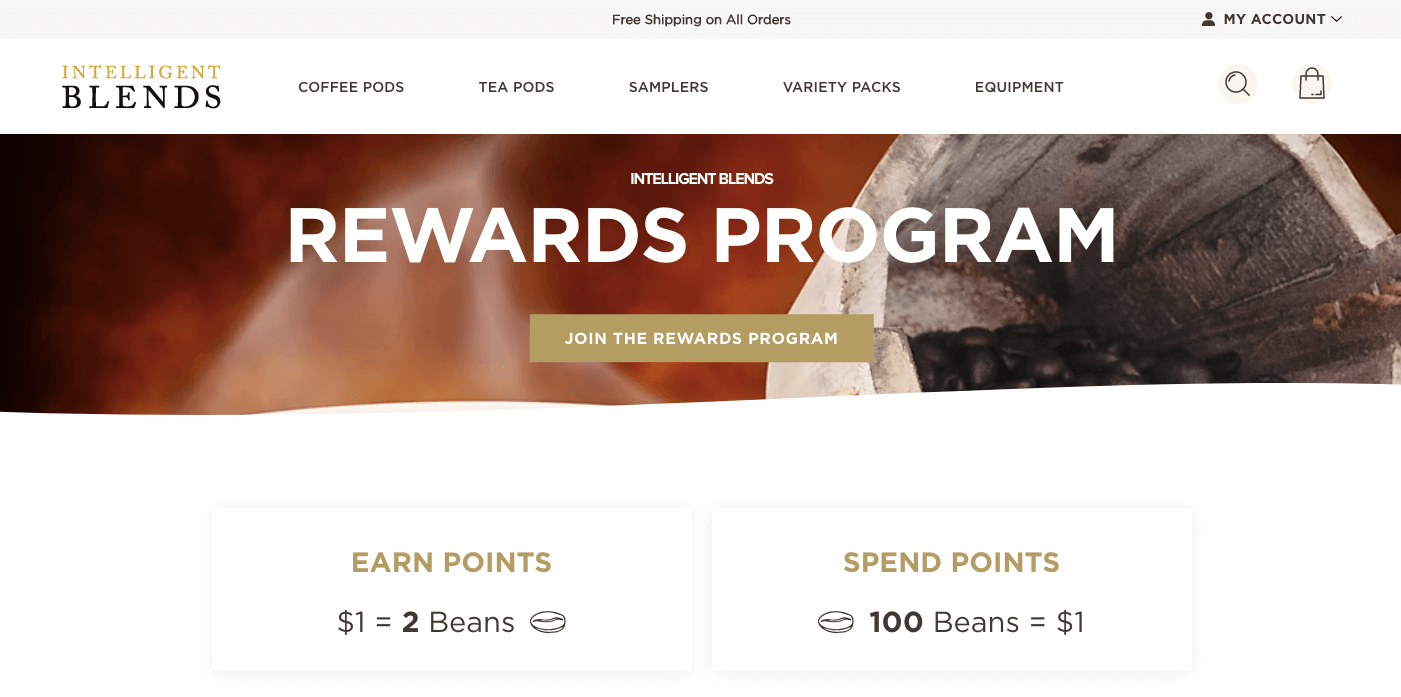 brand partnerships - intelligent blends rewards