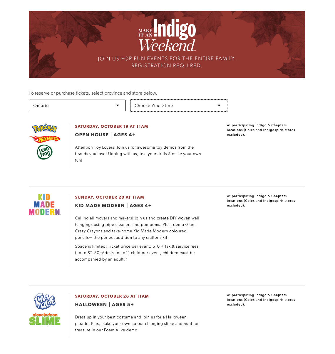 indigo plum plus - events listing