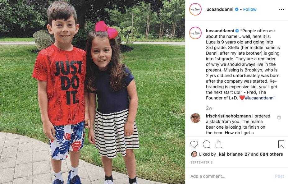 Brand Storytelling - luca + danni instagram