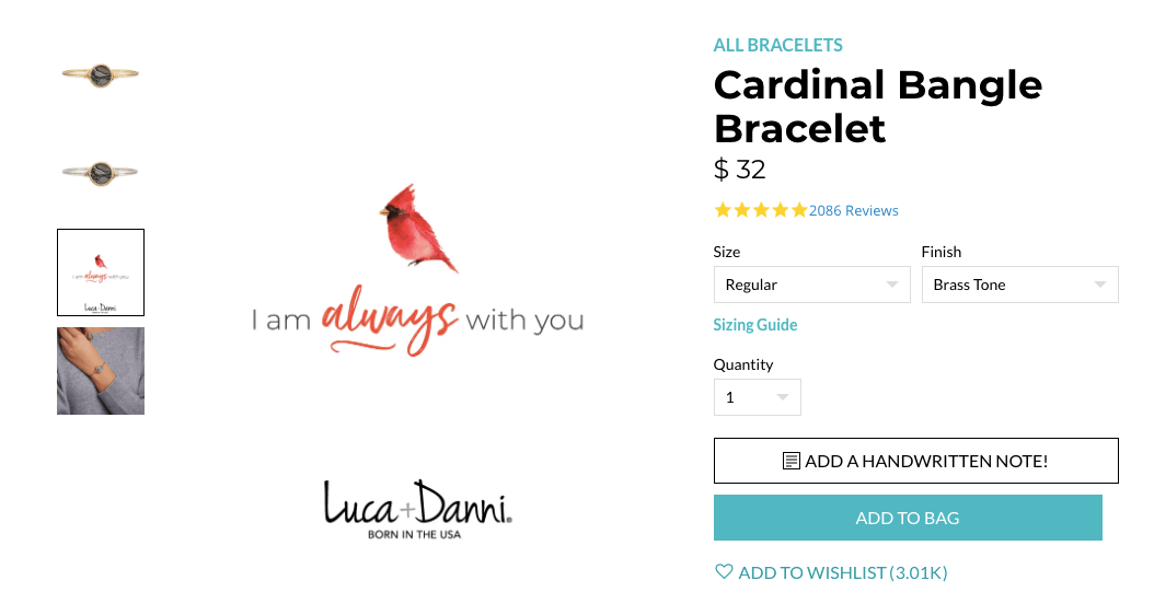 Brand storytelling - luca + danni products